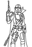 Coloring page The Mandalorian