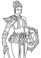 Coloring page Mave