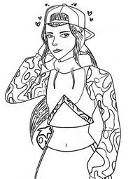Coloring page Loserfruit