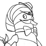 Desenho para colorir Mr. Dappermint
