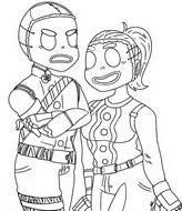 Coloring page Merry Marauder & Ginger Gunner
