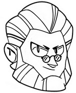 Coloring page Byron icon