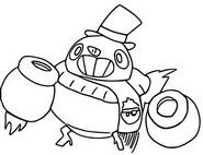 Kleurplaat Snowman Tick
