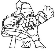 Coloring page Holiday Party Frank