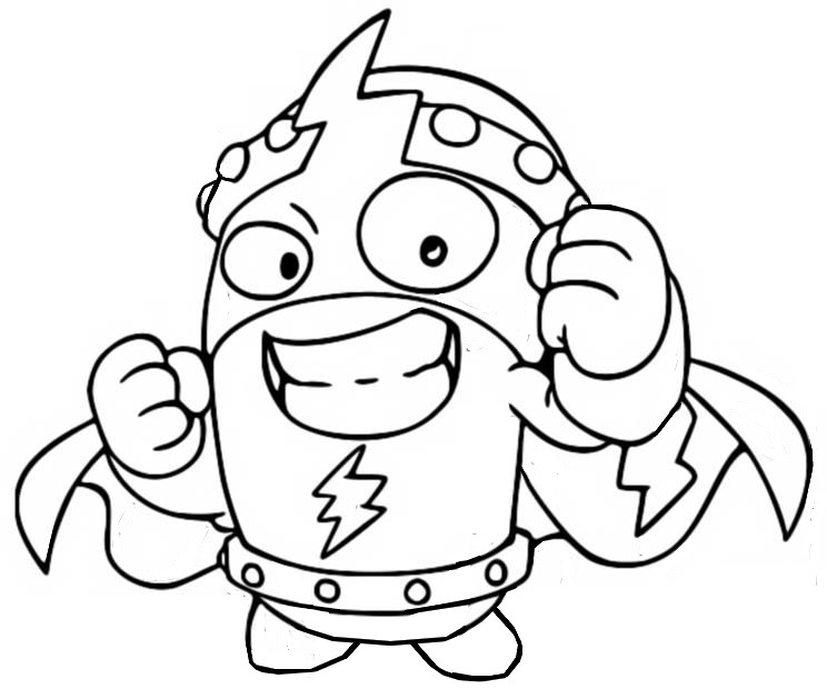 Coloring page Kidkazoom Ultra rare - Superthings Series 4 Superzings