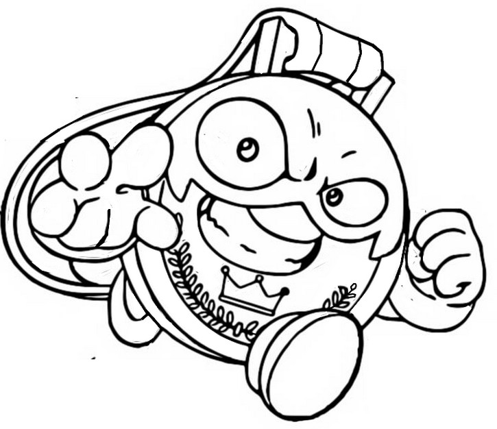 Coloring page Bad Prize 254 Super Leader Villain - Superthings Series 4 Superzings