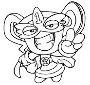 Coloring page Pow Position 253 Super Leader Hero