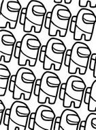 Dibujo para colorear Multitud de personajes