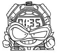 Dibujo para colorear Cyber Fighters 502 Kronotikus