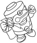 Dibujo para colorear Energy Brigade 523 Energetik