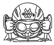 Dibujo para colorear Energy Brigade 524 Slalom Head