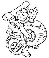 Dibujo para colorear Energy Brigade 528 Twin Wheel