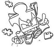 Dibujo para colorear Mechanic Warrior 541 Puzz Left