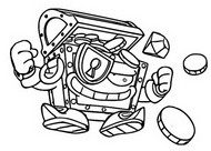 Dibujo para colorear Mechanic Warrior 543 Gold Box