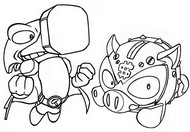 Coloring page Ironhead vs Coink