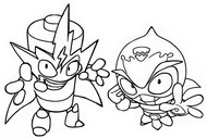 Coloring page Sparky vs Elektron