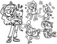 Kolorowanka Gabby i jej przyjaciele