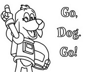 Coloring page Go Dog Go