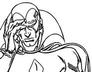 Dibujo para colorear Incluso un androide puede llorar