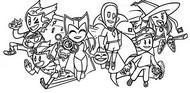 Desenho para colorir Dia das Bruxas