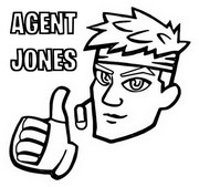 Coloring page Agent Jones (icon)