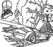 Malvorlagen Agent Jones & Wagen
