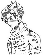 Coloring page Raz - Profile Drawing