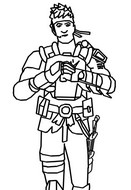 Coloring page Agent Jones - Skin
