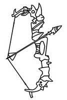Coloring page Bow with arrow