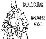 Kleurplaat Batman Zero Skin