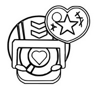 Coloring page Stu pin heart