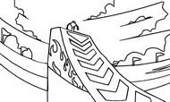 Coloring page Jumping Hill