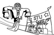 Coloring page Stu jump