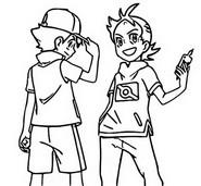 Coloring page Goh & Ash