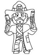 Disegno da colorare Colt pistolero