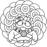 Kleurplaat Squeak - Mandala