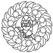 Kleurplaat Belle - Mandala