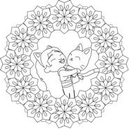 Disegno da colorare Gabby e Pandy Paws
