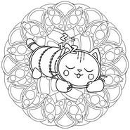 Disegno da colorare Pillow Cat