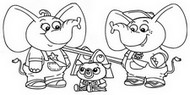 Coloring page Stomp and Stamp Fant