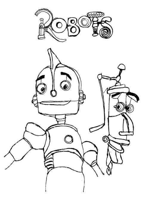 Malvorlagen Robots 3
