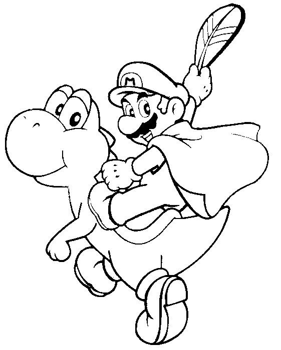 Coloring Page Super Mario 12