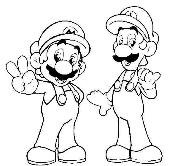 Kleurplaten Super Mario.Kleurplaat Super Mario 9