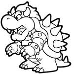 Dibujo para colorear Super Mario
