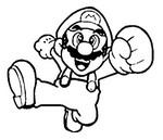 Desenho para colorir Super Mario