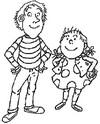 Coloring page Tom-Tom and Nana