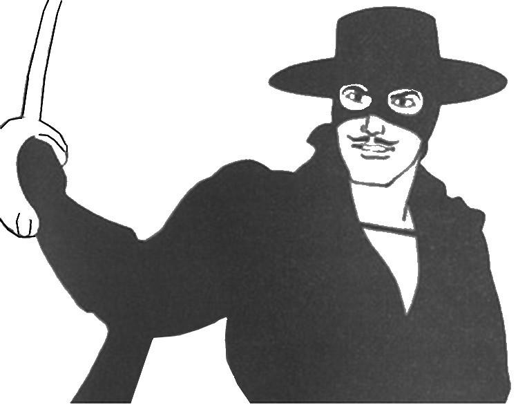 Coloring Page Zorro 6