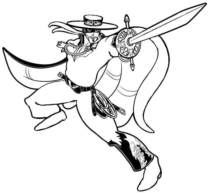 Coloring Pages Zorro Drawing