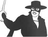 Desenho para colorir Zorro