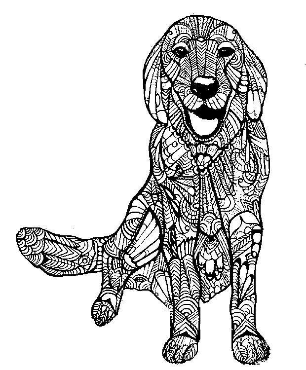 Kleurplaten Van Honden.Kleurplaat Honden 30
